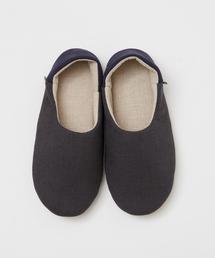 靴下 カラーコンビリネンルームシューズ L|ZOZOTOWN PayPayモール店