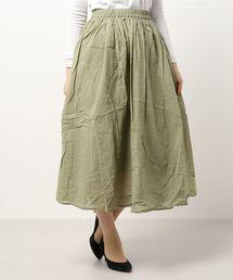 スカート オーガニックコットンボイルロングスカート|ZOZOTOWN PayPayモール店