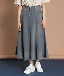 スカート 【Moname/モナーム】 フレア デニムスカート|ZOZOTOWN PayPayモール店