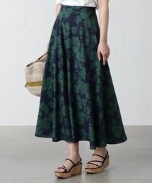 スカート ツートンカラーフラワープリントフレアスカート|ZOZOTOWN PayPayモール店