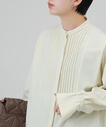 シャツ ブラウス ショルダータックバンドカラーシャツ/AUNT MARIE'S|ZOZOTOWN PayPayモール店