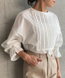 シャツ ブラウス 【2021S/S New Arrival】T/Cブロードスタンドカラーピンタックドレスシャツ|ZOZOTOWN PayPayモール店