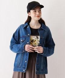ジャケット Gジャン 【大きいサイズあり・13号】オーバーサイズデニムGジャン|ZOZOTOWN PayPayモール店