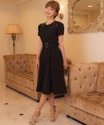 ドレス 平子理沙プロデュース『RIRIBAE/リリベ』ボリュームスリーブ星柄パッチワークフレアのワンピースドレス|ZOZOTOWN PayPayモール店