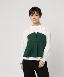 tシャツ Tシャツ 30sT/C天竺×EツイルタックフレアビスチェドッキングTシャツ|ZOZOTOWN PayPayモール店
