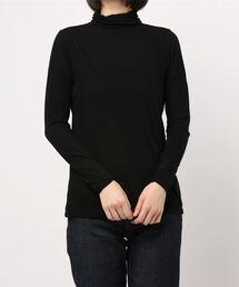 tシャツ Tシャツ スーピマコットン強撚天竺タートル 袖口フラワー刺しゅう|ZOZOTOWN PayPayモール店