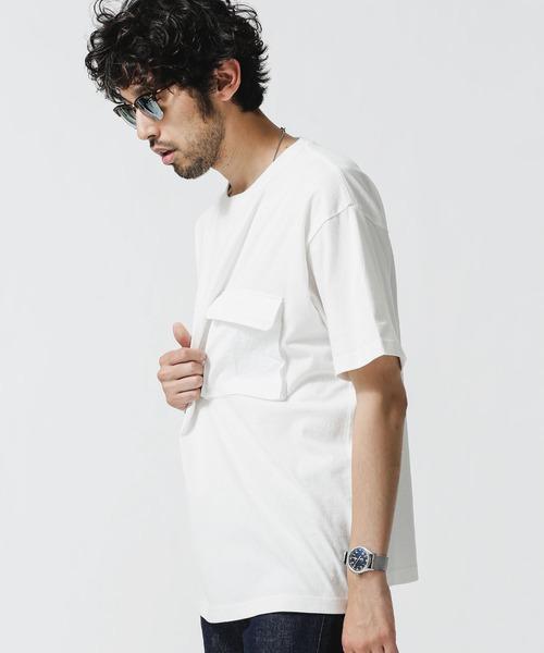 2020秋冬新作 tシャツ Tシャツ 評判 合繊ポケットドッキングTシャツ