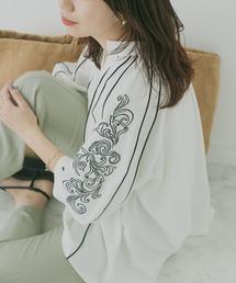 シャツ ブラウス KBF+ 刺繍スリーブブラウス ZOZOTOWN PayPayモール店