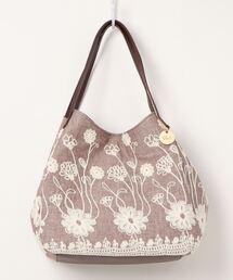 トートバッグ バッグ カシュカシュ cachecache / 花柄刺繍変形トートバッグ|ZOZOTOWN PayPayモール店