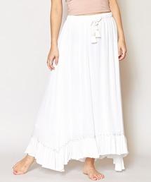 スカート 【Kahiko】レーヨンクレープ刺繍ロングスカート|ZOZOTOWN PayPayモール店