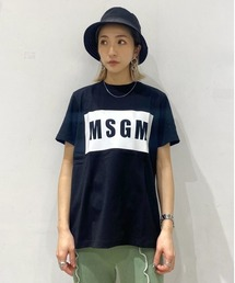 tシャツ Tシャツ MSGM/エムエスジーエム/ボックスロゴTシャツ|ZOZOTOWN PayPayモール店