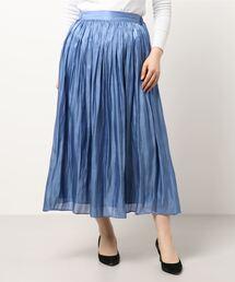 スカート プラチナサテンギャザースカート|ZOZOTOWN PayPayモール店