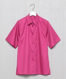 シャツ ブラウス <H>COTTON SHORT SLEEVE SHIRT/シャツ|ZOZOTOWN PayPayモール店