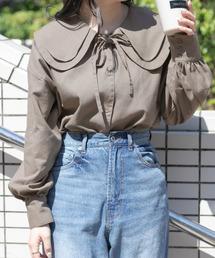 シャツ ブラウス ビックカラーコットンリネンシャツ(リンクアイテム)|ZOZOTOWN PayPayモール店