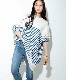 tシャツ Tシャツ K2490 サマーボーダーBIGプルオーバー|ZOZOTOWN PayPayモール店