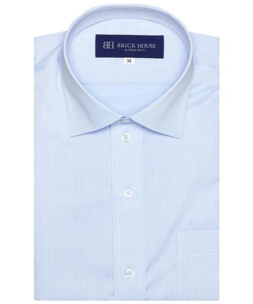 形態安定 ノーアイロン 信憑 ワイド 商舗 半袖ビジネスワイシャツ