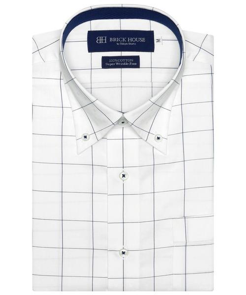 新着セール 祝開店大放出セール開催中 形態安定ノーアイロン ボタンダウン 半袖ビジネスワイシャツ