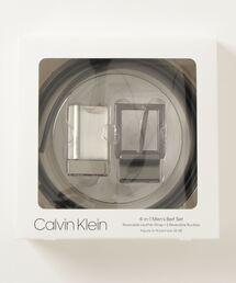 ベルト 【Calvin Klein/カルバンクライン】リバーシブル レザーベルトセット(バックル2タイプ ) ZOZOTOWN PayPayモール店