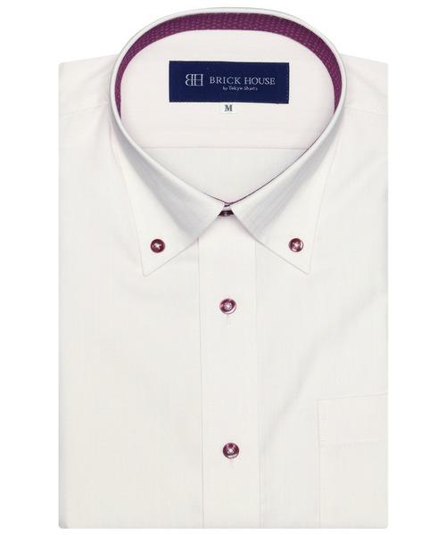形態安定 ノーアイロン 半袖ビジネスワイシャツ 売れ筋 完全送料無料 ボタンダウン