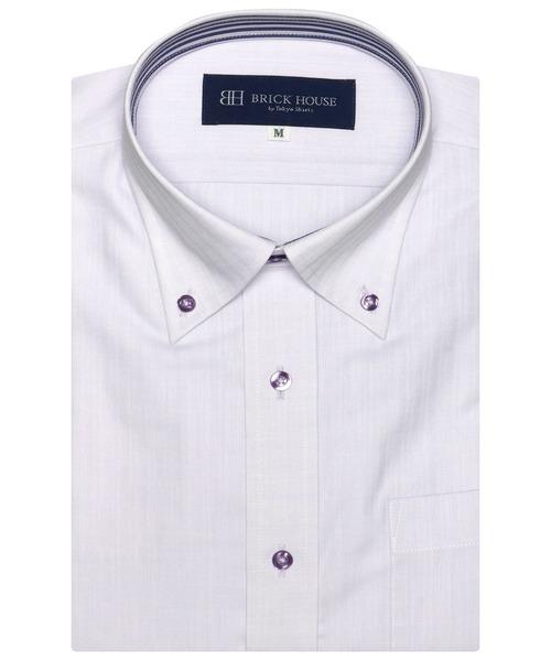 形態安定 ノーアイロン 爆買い送料無料 驚きの価格が実現 半袖ビジネスワイシャツ ボタンダウン