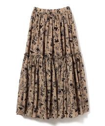 スカート CAROLINA GLASER / オリジナル花柄 ティアードスカート|ZOZOTOWN PayPayモール店