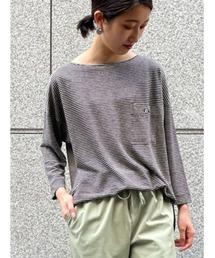 tシャツ Tシャツ リネンボーダーカットソー|ZOZOTOWN PayPayモール店