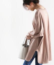 tシャツ Tシャツ バックプリント無地ロング丈カットソー ZOZOTOWN PayPayモール店