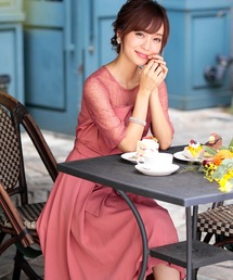 ドレス ビスチェ風 レース切り替え ロング ワンピースドレス|ZOZOTOWN PayPayモール店