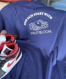 tシャツ Tシャツ FRUIT OF THE LOOM フルーツオブザルーム ワンポイント胸ロゴワッペン×バックプリントTシャツ ZOZOTOWN PayPayモール店
