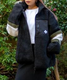 ジャケット ブルゾン ビッグシルエット スタンドネック ボアフリースジャケット|ZOZOTOWN PayPayモール店