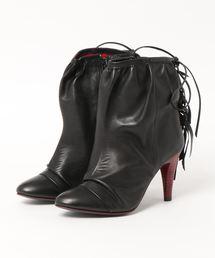 ブーツ MANA マナ フリンジデザインシャーリングリボンショートブーツ|ZOZOTOWN PayPayモール店