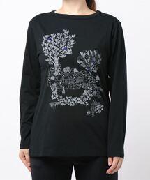 tシャツ Tシャツ 冬のお花プリント×刺しゅう長袖カットソー|ZOZOTOWN PayPayモール店