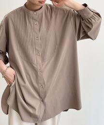 シャツ ブラウス バンドカラープリーツシャツ|ZOZOTOWN PayPayモール店