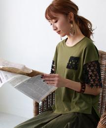tシャツ Tシャツ REAL CUBE スターレーススリーブトップス|ZOZOTOWN PayPayモール店