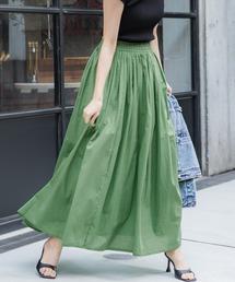 スカート やわらかしわ感コットンフレアロングスカート ZOZOTOWN PayPayモール店