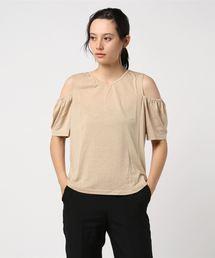 tシャツ Tシャツ 【U-BASIC】肩だし トップス Vネック肩あき半袖UBASICTシャツ ZOZOTOWN PayPayモール店