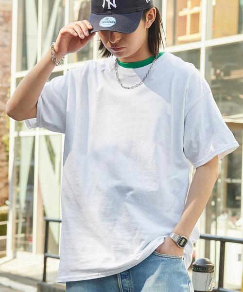 tシャツ Tシャツ ギルダン ビッグシルエット 希少 USAオーバーサイズ 1 2スリーブTシャツ 特価 トップス 無地T