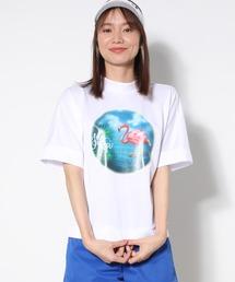 tシャツ Tシャツ 【UV】【吸水速乾】エアブラシフラミンゴモックネック半袖プルオーバー|ZOZOTOWN PayPayモール店