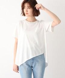 tシャツ Tシャツ ●【ウォッシャブル】コットンイレギュラーヘムデザインTシャツ ZOZOTOWN PayPayモール店