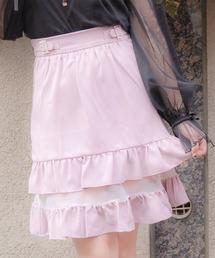 スカート 2段フリルシアースカート|ZOZOTOWN PayPayモール店