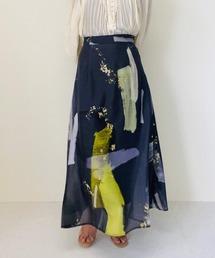 スカート PAINTプリント フレアスカート|ZOZOTOWN PayPayモール店