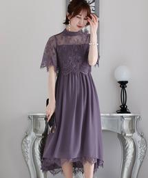 ドレス ロング&七分袖フォーマルスカラップフィッシュテール大きいサイズ結婚式ワンピースドレス|ZOZOTOWN PayPayモール店
