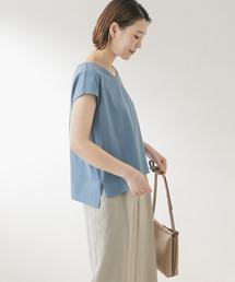 tシャツ Tシャツ F by ROSSO フレンチスリーブ切替カットソー|ZOZOTOWN PayPayモール店