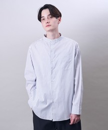 シャツ ブラウス ブロードリラックスフィットバンドカラーシャツ|ZOZOTOWN PayPayモール店
