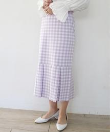 スカート ギンガムチェックマーメイドニットスカート /MARILYN MOON ZOZOTOWN PayPayモール店