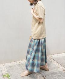スカート マドラスチェック ボリュームタックロングスカート|ZOZOTOWN PayPayモール店