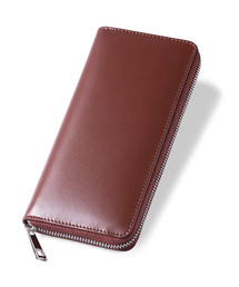 財布 ラウンドファスナー コードバン調/カーボン レザー 長財布|ZOZOTOWN PayPayモール店