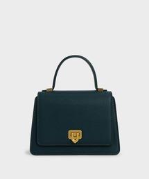 バッグ ハンドバッグ メタリックプッシュロック トップハンドルバッグ / Metallic Push-Lock Top Handle Bag|ZOZOTOWN PayPayモール店