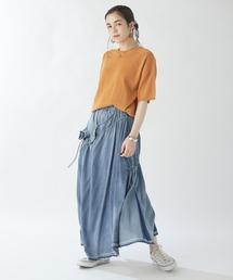 スカート デニム ギャザーフレアデニムスカート|ZOZOTOWN PayPayモール店