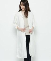 シャツ ブラウス 【ハンドウォッシュ】リネン混ロングシャツ ZOZOTOWN PayPayモール店